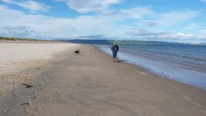Beach walk after docking at Troon